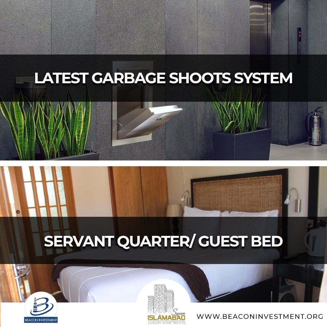 servant quarter and garbage shoots