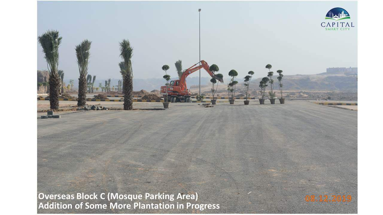 Capital Smart City Islamabad Overseas Block C and Masjid Mosque Parking Area Work in Progress with Heavy Machinery