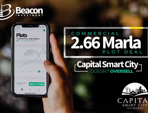 Capital Smart City Islamabad does not Oversell; The Case of 2.66 Marla Commercial Plot.